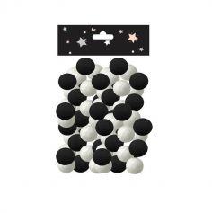 100 Boules Noires & Blanches pour Sarbacane
