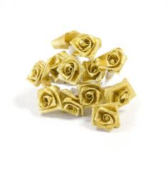 Lot de 36 Petites Roses aspect métallisé - Couleur au Choix