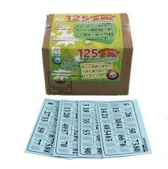 Pack 125 Cartons Rigides de Loto - Bleu