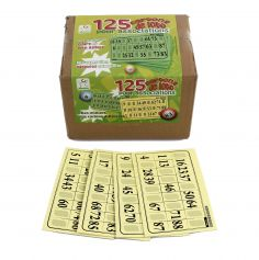 Pack 125 Cartons Rigides de Loto - Jaune