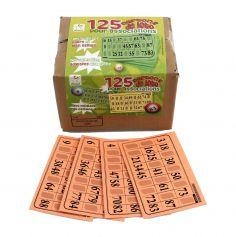 Pack 125 Cartons Rigides de Loto - Orange