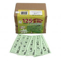 Pack 125 Cartons Rigides de Loto - Vert