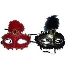 loup-masque-venise-dentelle-plume | jourdefete.com