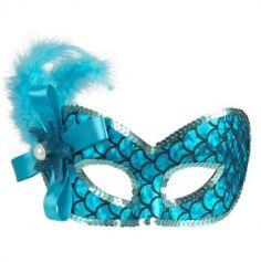 Masque Loup Sirène - Bleu