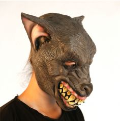 Masque Intégral en Latex de Loup-Garou