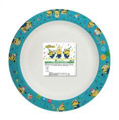 8 assiettes compostables recyclables minions | jourdefete.com