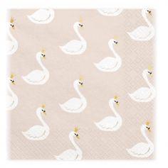 serviette-papier-cygne-lovely-swan|jourdefete.com