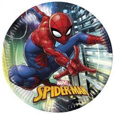 """Sachet de 8 assiettes """"Spiderman""""™"""