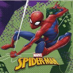 """Sachet de 20 serviettes en papier """"Spiderman"""""""