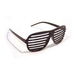lunettes rayées noires