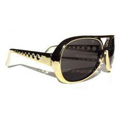 lunettes rockeur elvis dorées