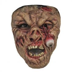 Demi Masque Latex Zombie Œil tombant