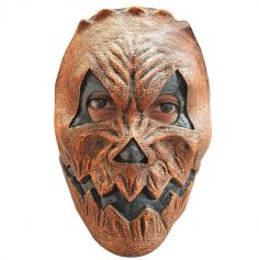 Demi Masque Latex Citrouille Effrayante