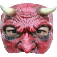 Demi-Masque en Latex de Diable