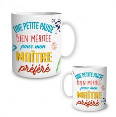 mug-pause-bien-meritee-cadeau-maitre-prefere|jourdefete.com