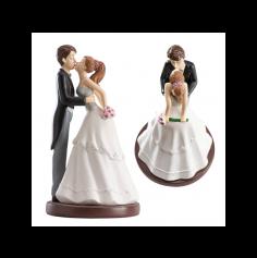 Figurines pour gâteau de mariage - Bisou