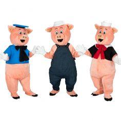 mascotte des 3 petits cochons