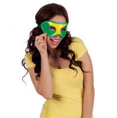 Masque loup Brésil jaune vert