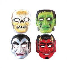 masques-plastique-halloween-monstres | jourdefete.com