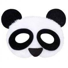 Demi-Masque de Panda en Peluche Adulte