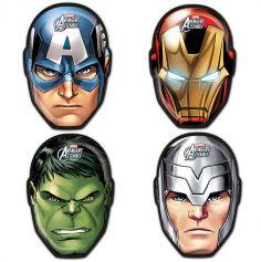 6 Masques en carton Avengers