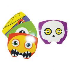 4 masques Halloween en papier