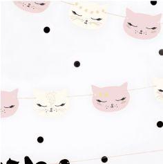 Guirlande en carton Chat - Meow Party
