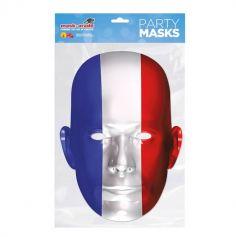 Masque en carton du drapeau Français