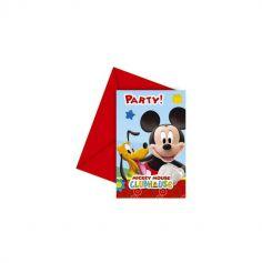 6 Invitations avec Enveloppes en carton - Mickey Mouse™