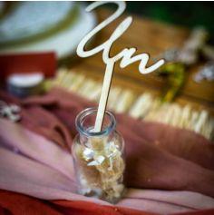 Mini bouteille de Fleurs séchées avec bouchon en liège