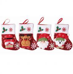 Mini Chaussette de Noël à Sequins - 15 cm - Modèle au Choix