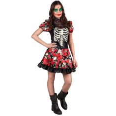 Costume Day Of The Dead Ado Fille - 14-16 ans