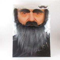 Set moustache / barbe / sourcils - Gris