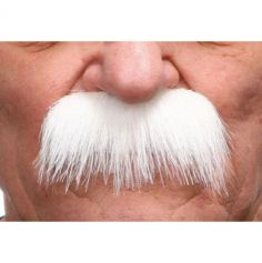 "Moustache ""Brosse"" - Blanc"