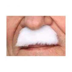 """Moustache """"Chaplin"""" - Blanc"""