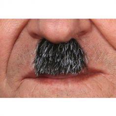"""Moustache """"Charlot"""" - Noir méché blanc"""
