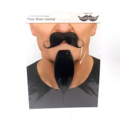 """Set moustache et bouc """"Mousquetaire"""" - Noir"""