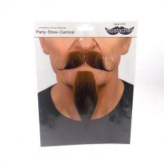 """Set moustache et bouc """"Mousquetaire"""" - Roux"""