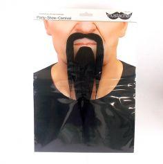"""Set moustache et bouc """"Zen"""" - Noir"""