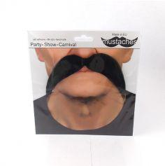 """Moustache """" Gaulois"""" - Noir"""