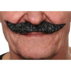 """Moustache """"Parisien"""" - Poivre et Sel"""