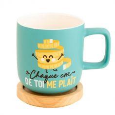 Mug avec Couvercle en Bois - Chaque Cm de Toi me Plaît - Mr. Wonderful