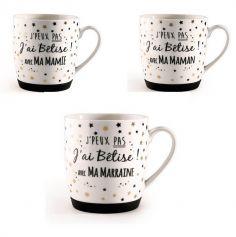 Mug J'peux pas J'ai bêtise - Modèle au choix