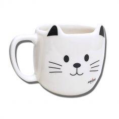 mug en forme de chat blanc ou noir | jourdefete.com