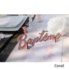 Décoration de Table Lettres Baptême - Coloris au Choix