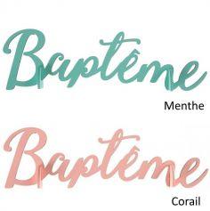 Decoration de Table Lettres Bapteme - Coloris au Choix | jourdefete.com