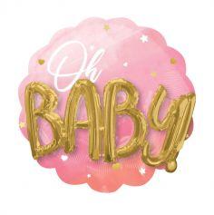 ballon-babyshower-fille-3D-oh-baby-rose|jourdefete.com