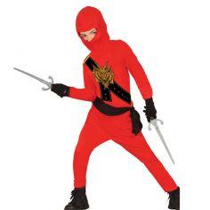 Déguisement enfant ninja rouge