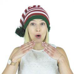 Bonnet en Tricot - Elfe du Père Noël | Jourdefete.com