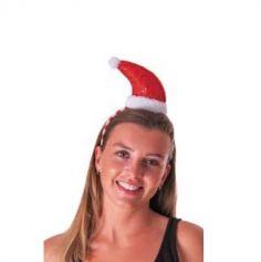 Serre-Tête Bonnet Père Noël avec Sequins Rouge